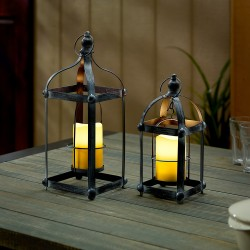Bradford Metal LED Lantern Set