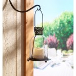 "Monaco 9"" Glass LED Candle Lantern- Clear"