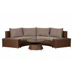 Webster Wicker Sectional Set