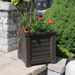 Lakeland Patio Planter 16x16 with Water Reservoir Feature
