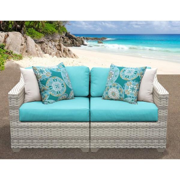 2PC Fairmont Outdoor Wicker Patio Furniture Set 02a