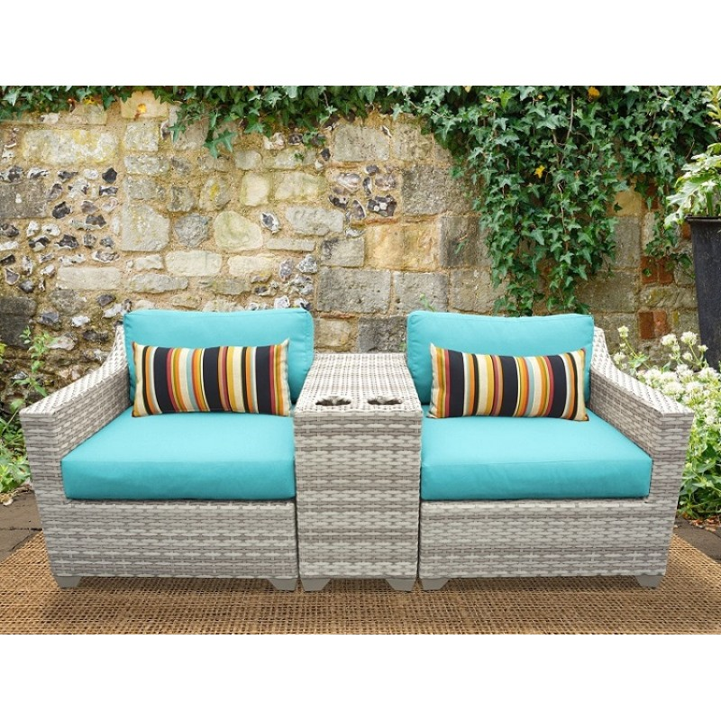 Fairmont Patio Furniture.3pc Fairmont Outdoor Wicker Patio Furniture Set 03b