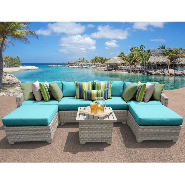 7PC Fairmont Outdoor Wicker Patio Furniture Set 07a