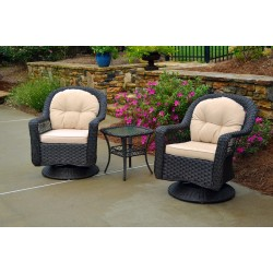 Biloxi 3 Pc Bistro Set 2 Swivel Chairs, Bistro Table