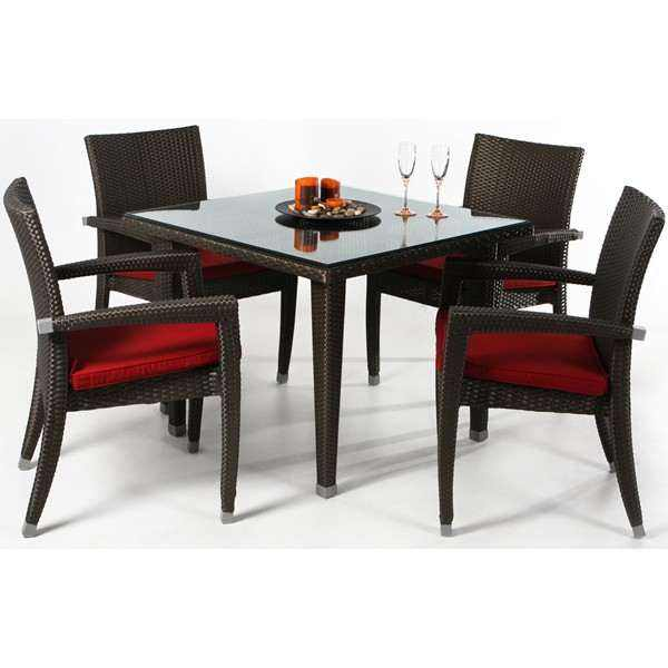 Rattan Table Set - 6pc