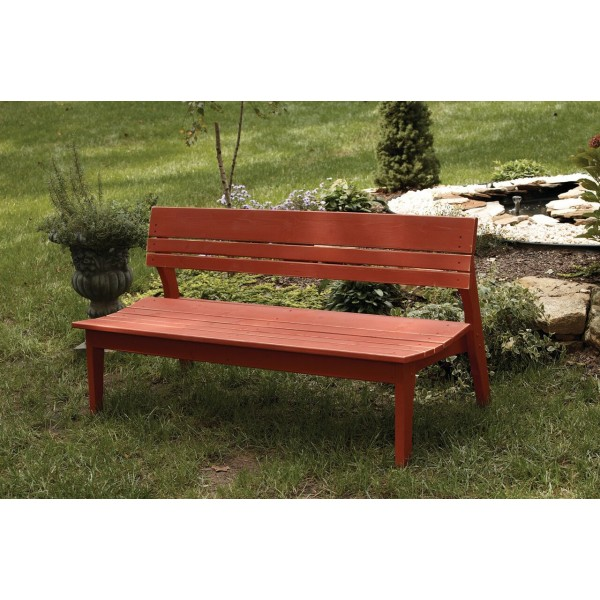 Four Seat Bench with Back