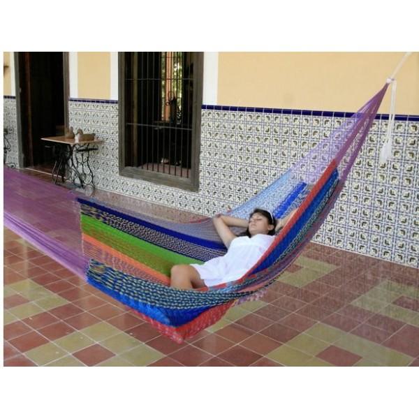Sunnydaze Jumbo Mayan Hammock - MultiColor