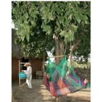 Sunnydaze Large Mayan Chair Hammock With Wood Bar - MultiColor