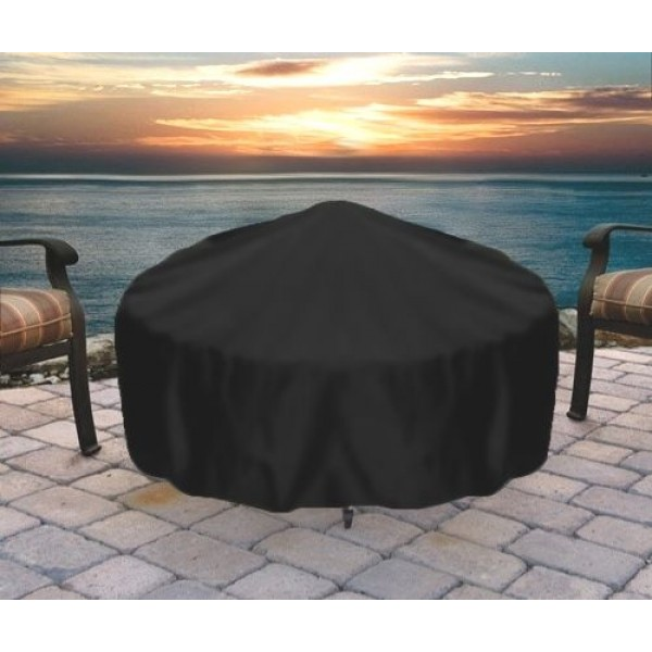 """30"""" Round Black Fire Pit Cover"""