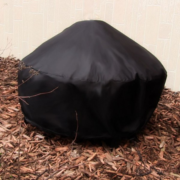 "30"" Heavy Duty Black Round Fire Pit Cover"