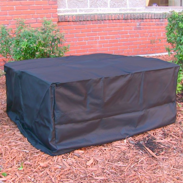 "36"" Heavy Duty Square Black Fire Pit Cover"