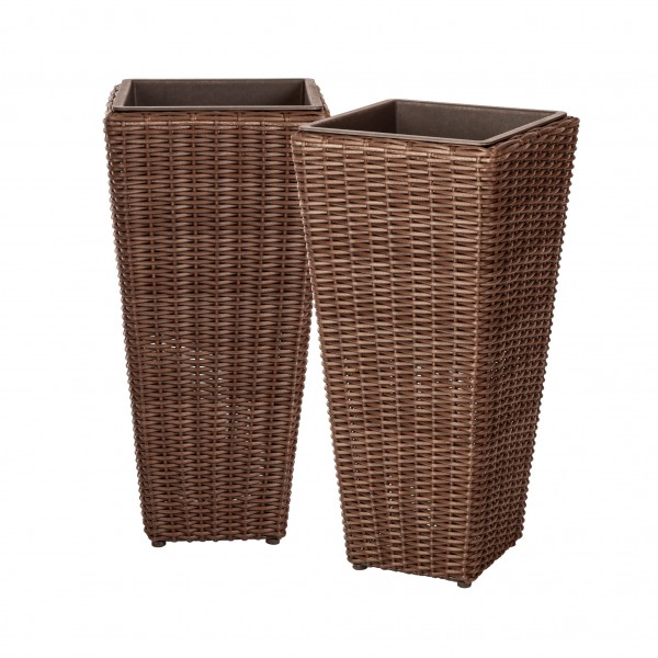Alto 2-Piece Wicker Planter Set