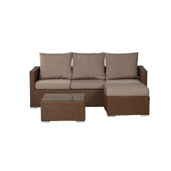 Dorsey Wicker Sectional Set