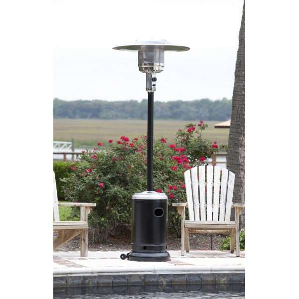 Hammer Tone Black & Stainless Steel Commercial Patio Heater