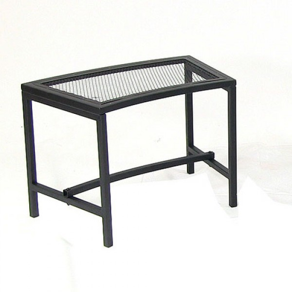 Black Mesh Patio Fire Pit Bench - 1 Bench