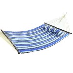 Sunnydaze Catalina Beach Quilted Fabric Hammock with Pillow and Spreader Bar