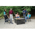 41 IN Square LP GAS  Firebowl with Tile Mantel