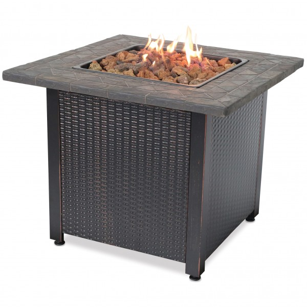 LP GAS Outdoor Fire Table with Resin Mantel