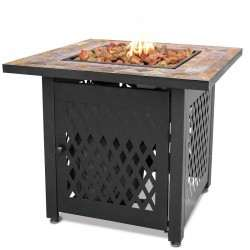 - LP GAS Outdoor Firebowl With Slate Tile Mantel