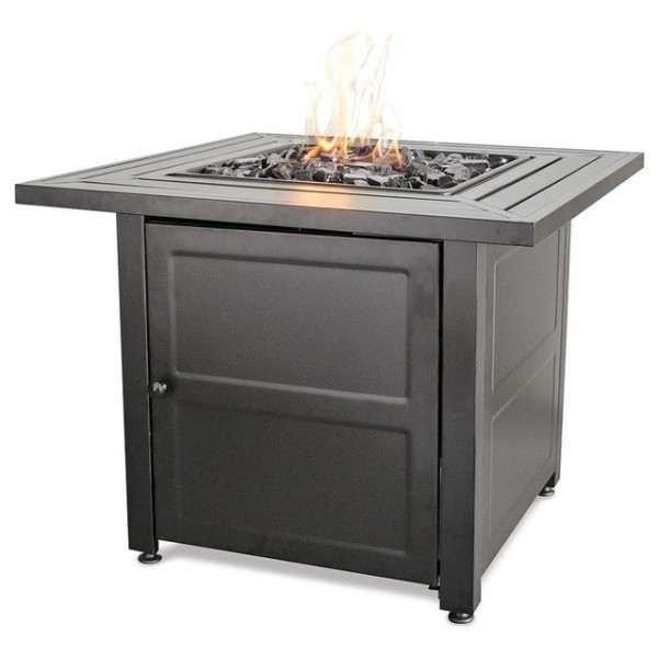 - LP Gas Outdoor Firebowl with Steel Mantel