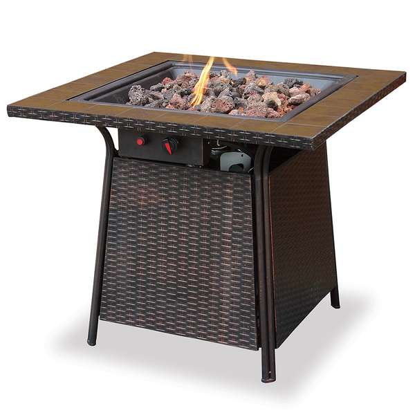 - LP GAS Outdoor Firebowl With Tile Mantel