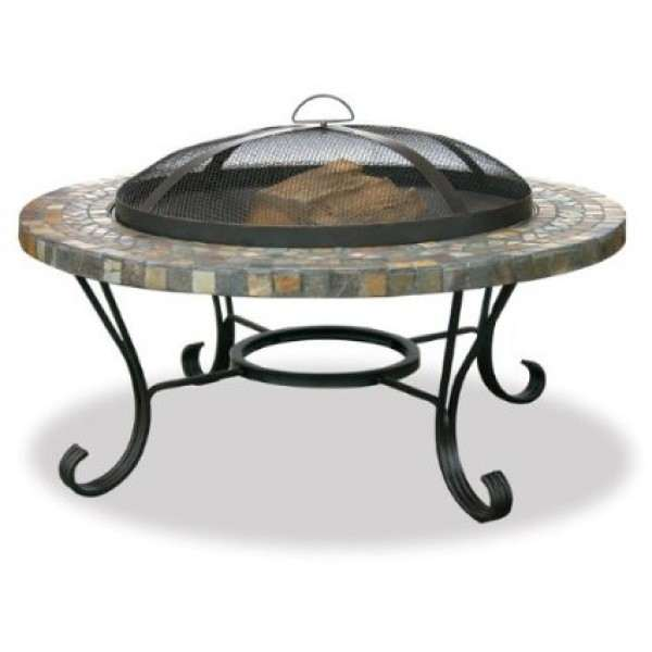 Slate Tile And Copper Outdoor Firebowl