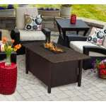 Carmel Chat Height Firepit Coffee Table in Black Mohogany