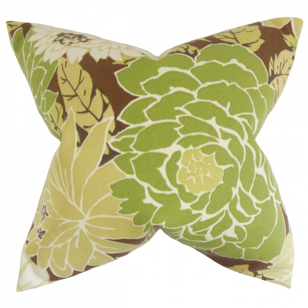 Delaney Floral Pillow Fennel