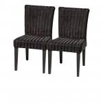2 Venice Armless Dining Chairs w Cushions