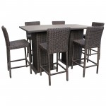 8 PC Venice Pub Table Set w/ 6 Barstools