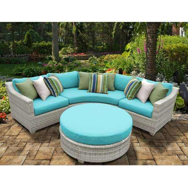 4PC Fairmont Outdoor Wicker Patio Furniture Set 04a
