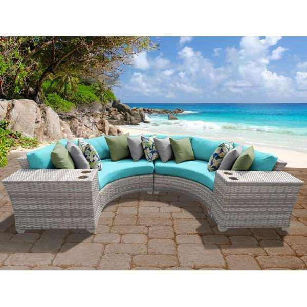 4PC Fairmont Outdoor Wicker Patio Furniture Set 04c