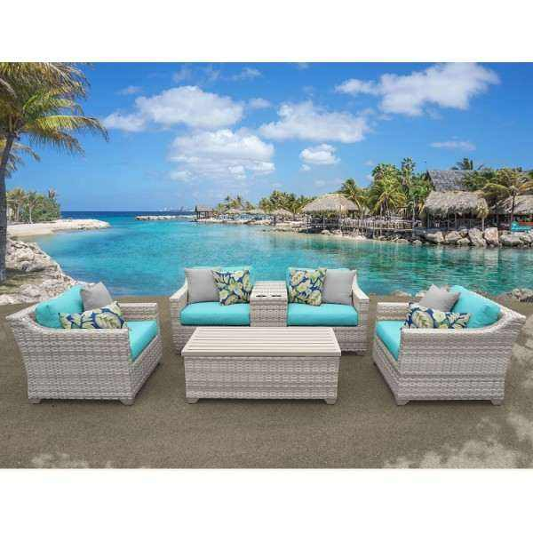 6PC Fairmont Outdoor Wicker Patio Furniture Set 06d