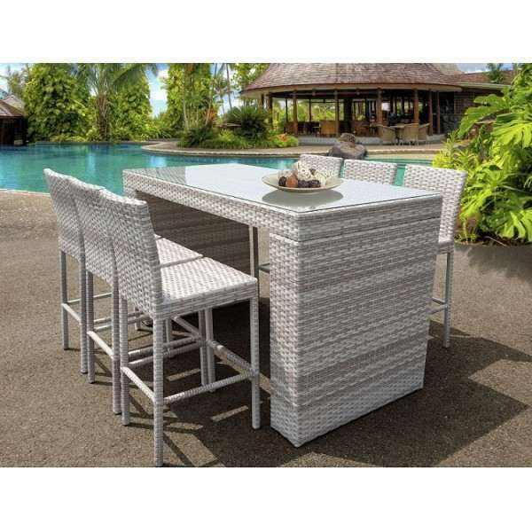 Fairmont Bar Table with 6 Barstools w/ Backs
