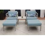 Carlisle 5 Piece Outdoor Wicker Patio Furniture Set 05a