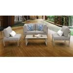 Carlisle 5 Piece Outdoor Wicker Patio Furniture Set 05c
