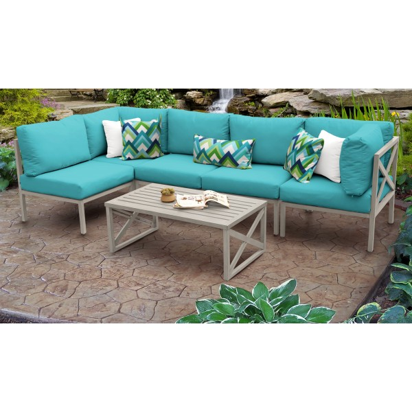 Carlisle 6 Piece Outdoor Wicker Patio Furniture Set 06a