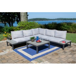 Lakeview 4PC Outdoor Patio Secional Set