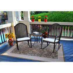 3PC Garden Rocker Bistro Set