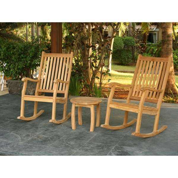 3 Piece Jakarta Rocking Chair Set