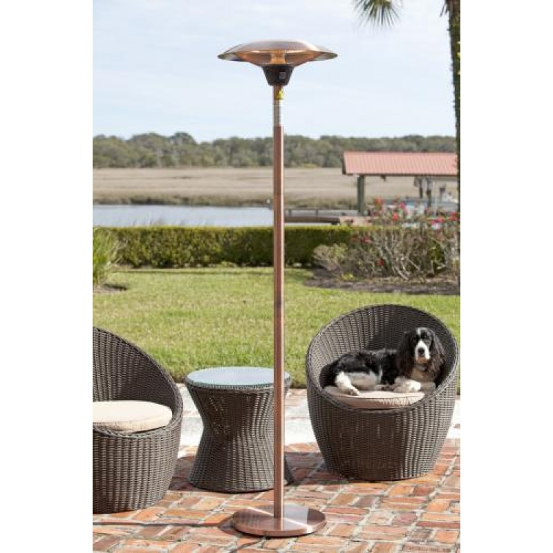 Frisco Brushed Copper Colored Halogen Patio Heater